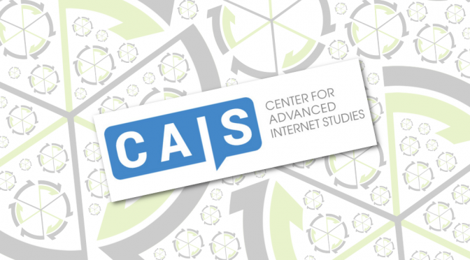 Antrag auf ein Fellowship am Center for Advanced Internet Studies (CAIS) angenommen