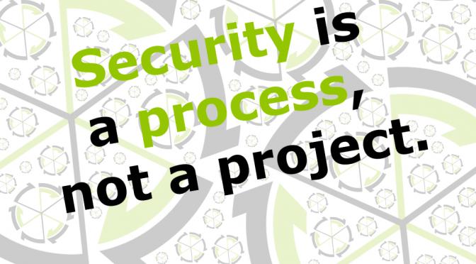 Informationssicherheit, IT-Sicherheit und Cyber-Sicherheit: Security ist ein Prozess, kein Projekt